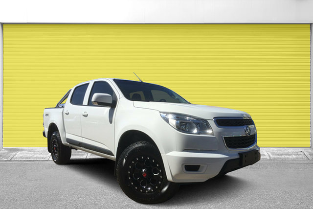 Used Holden Colorado RG MY15 LS Crew Cab, 2014 Holden Colorado RG MY15 LS Crew Cab White 6 Speed Sports Automatic Utility