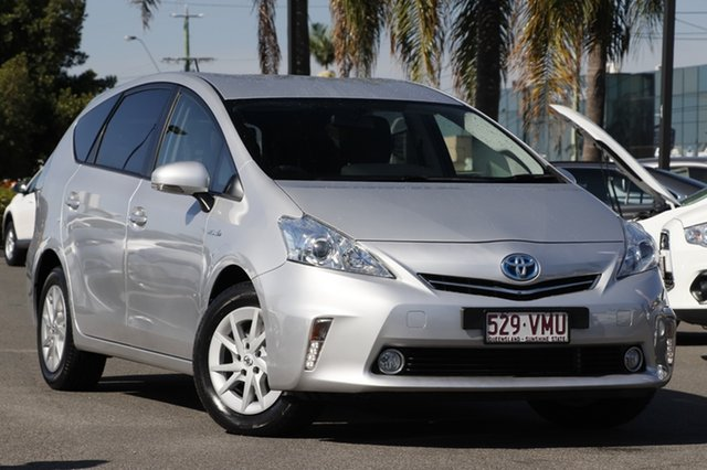 Used Toyota Prius v ZVW40R , 2014 Toyota Prius v ZVW40R Silver Pearl 1 Speed Constant Variable Wagon Hybrid
