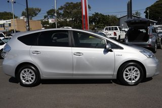 2014 Toyota Prius v ZVW40R Silver Pearl 1 Speed Constant Variable Wagon Hybrid.