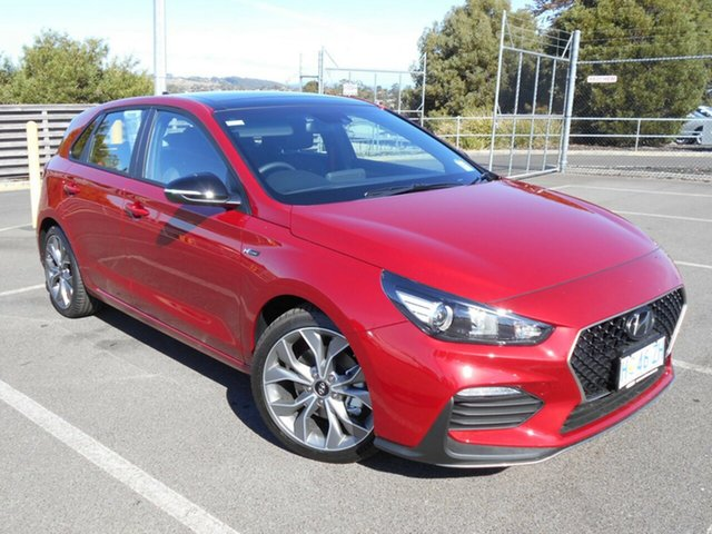Demo Hyundai i30 PD.3 MY19 N Line D-CT, 2018 Hyundai i30 PD.3 MY19 N Line D-CT Fiery Red 7 Speed Sports Automatic Dual Clutch Hatchback