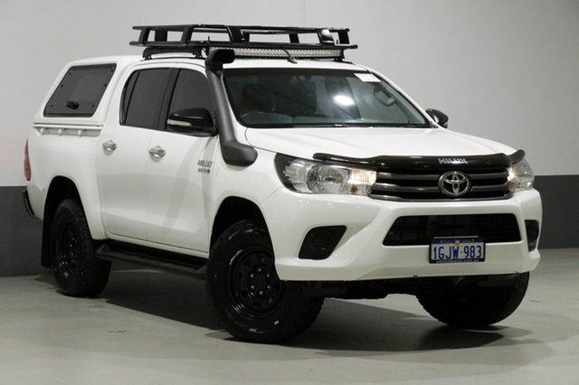 Used Toyota Hilux GUN126R MY17 SR+ (4x4), 2017 Toyota Hilux GUN126R MY17 SR+ (4x4) White 6 Speed Automatic Dual Cab Utility