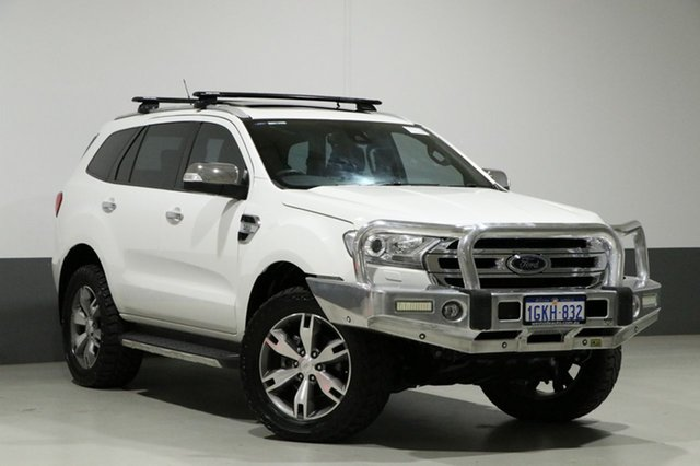 Used Ford Everest UA Titanium, 2015 Ford Everest UA Titanium White 6 Speed Automatic Wagon