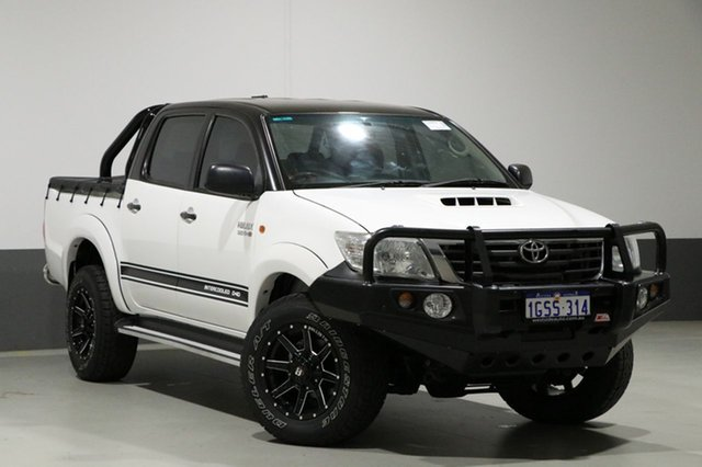 Used Toyota Hilux KUN26R MY12 SR (4x4), 2012 Toyota Hilux KUN26R MY12 SR (4x4) White 4 Speed Automatic Dual Cab Pick-up