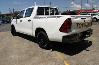 2017 Toyota Hilux TGN121R Workmate Double Cab 4x2 White 5 Speed Manual Utility.