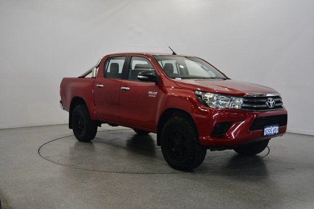 Used Toyota Hilux GUN126R SR Double Cab, 2016 Toyota Hilux GUN126R SR Double Cab Red 6 Speed Sports Automatic Cab Chassis