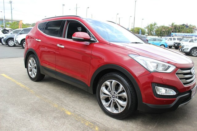 Used Hyundai Santa Fe DM2 MY15 Highlander, 2014 Hyundai Santa Fe DM2 MY15 Highlander Red 6 Speed Sports Automatic Wagon