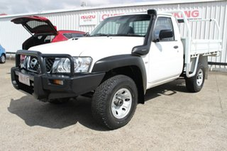 2007 Nissan Patrol GU 6 MY08 DX White 5 Speed Manual Cab Chassis.