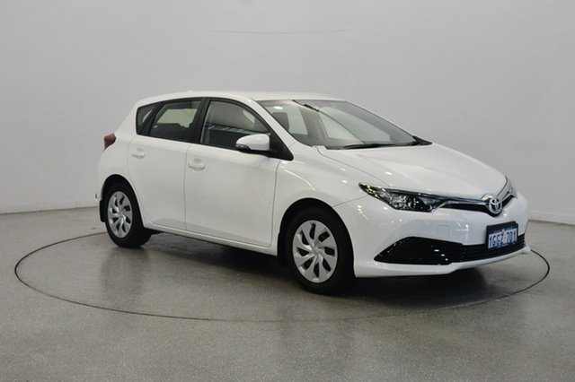 Used Toyota Corolla ZRE182R Ascent S-CVT, 2017 Toyota Corolla ZRE182R Ascent S-CVT White 7 Speed Constant Variable Hatchback