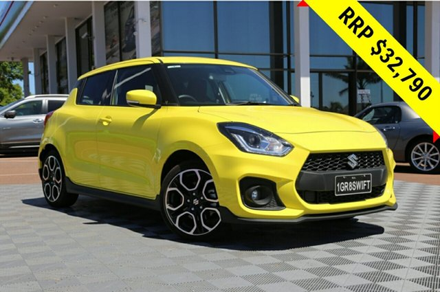 Demo Suzuki Swift AZ Sport, 2018 Suzuki Swift AZ Sport Champion Yellow 6 Speed Sports Automatic Hatchback