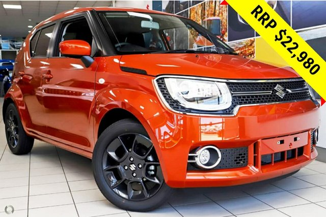 New Suzuki Ignis MF GLX, 2019 Suzuki Ignis MF GLX Flame Orange 1 Speed Constant Variable Hatchback