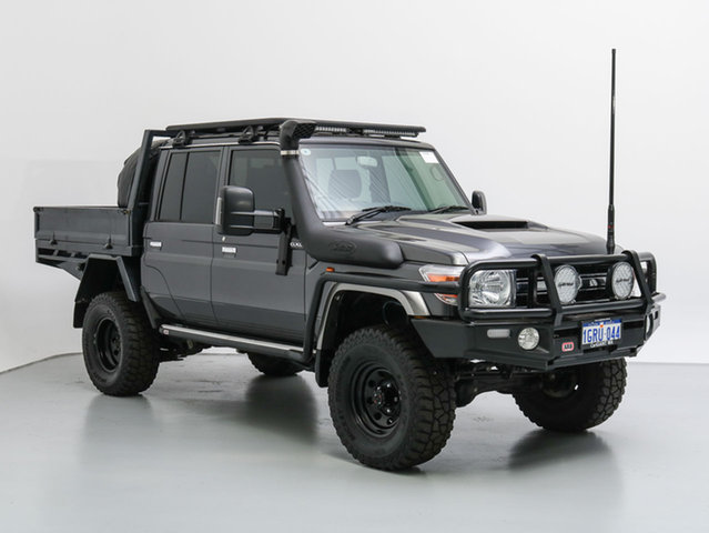 Used Toyota Landcruiser LC70 VDJ79R MY17 GXL (4x4), 2016 Toyota Landcruiser LC70 VDJ79R MY17 GXL (4x4) Graphite 5 Speed Manual Double Cab Chassis