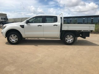 2012 Ford Ranger PX XL Double Cab White 6 Speed Manual Cab Chassis
