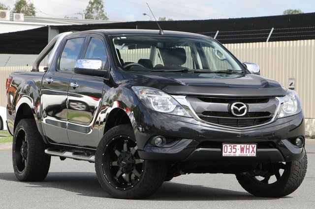 Used Mazda BT-50 UR0YF1 XTR 4x2 Hi-Rider, 2015 Mazda BT-50 UR0YF1 XTR 4x2 Hi-Rider Black 6 Speed Sports Automatic Utility