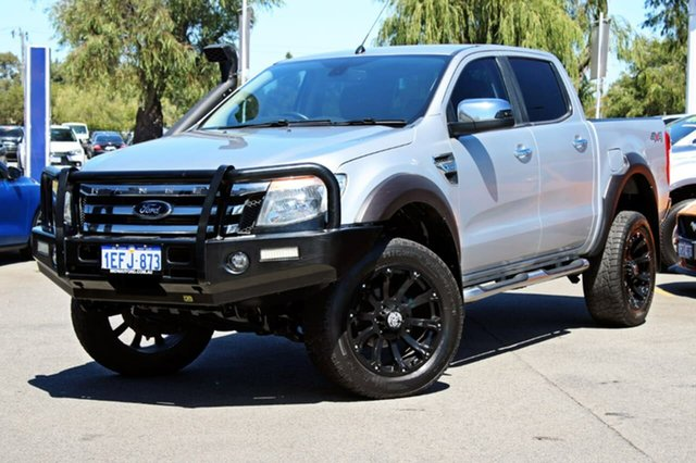 Used Ford Ranger PX XLT Double Cab, 2013 Ford Ranger PX XLT Double Cab Silver 6 Speed Manual Utility