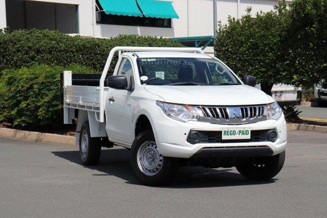 Used Mitsubishi Triton MQ MY16 GLX 4x2, 2015 Mitsubishi Triton MQ MY16 GLX 4x2 White 5 Speed Sports Automatic Cab Chassis