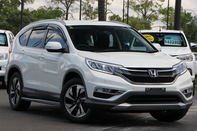 Used Honda CR-V RM Series II MY17 Limited Edition 4WD, 2015 Honda CR-V RM Series II MY17 Limited Edition 4WD White 5 Speed Sports Automatic Wagon