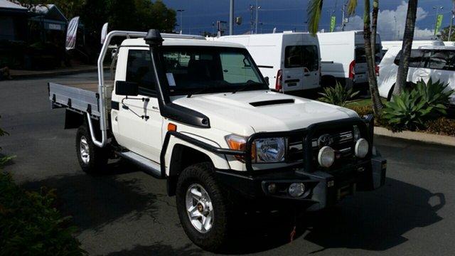Used Toyota Landcruiser VDJ79R GXL, 2015 Toyota Landcruiser VDJ79R GXL White 5 Speed Manual Cab Chassis