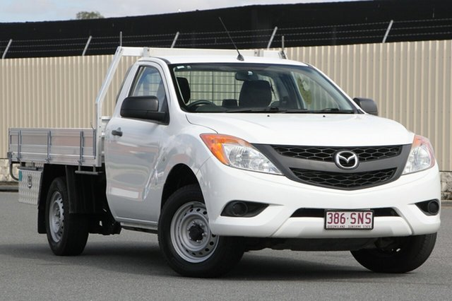 Used Mazda BT-50 UP0YD1 XT 4x2, 2012 Mazda BT-50 UP0YD1 XT 4x2 White 6 Speed Manual Cab Chassis