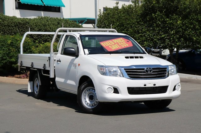 Used Toyota Hilux KUN16R MY14 SR 4x2, 2015 Toyota Hilux KUN16R MY14 SR 4x2 Glacier 5 Speed Manual Cab Chassis