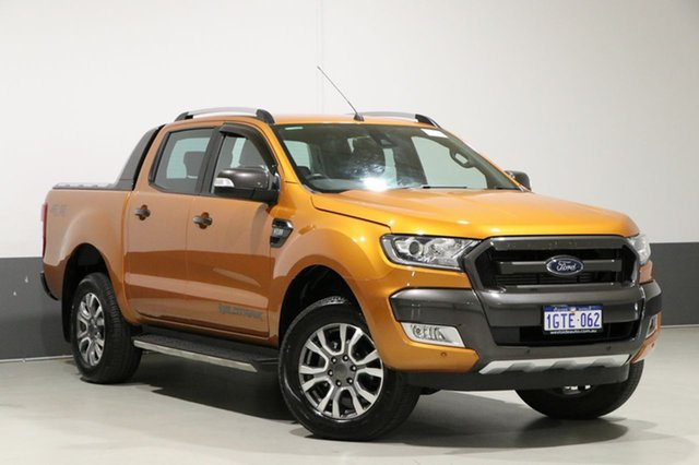 Used Ford Ranger PX MkII MY18 Wildtrak 3.2 (4x4), 2017 Ford Ranger PX MkII MY18 Wildtrak 3.2 (4x4) Orange 6 Speed Automatic Dual Cab Pick-up