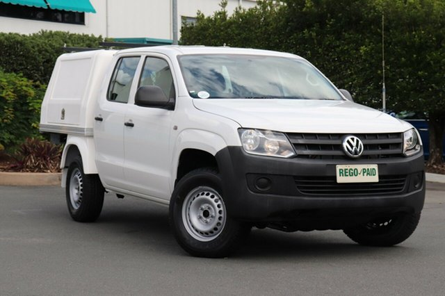 Used Volkswagen Amarok 2H MY12.5 TDI420 4Motion Perm, 2012 Volkswagen Amarok 2H MY12.5 TDI420 4Motion Perm White 8 Speed Automatic Cab Chassis