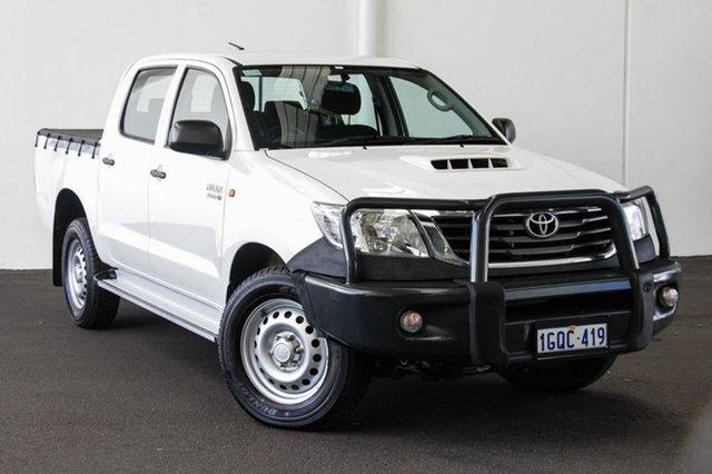 Used Toyota Hilux KUN26R MY14 SR (4x4), 2014 Toyota Hilux KUN26R MY14 SR (4x4) Glacier White 5 Speed Automatic Dual Cab Pick-up