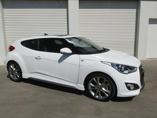 2016 Hyundai Veloster FS4 Series II SR Coupe D-CT Turbo White 7 Speed Sports Automatic Dual Clutch.