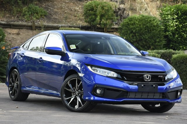 New Honda Civic 10th Gen MY20 RS, 2020 Honda Civic 10th Gen MY20 RS Blue 1 Speed Constant Variable Sedan