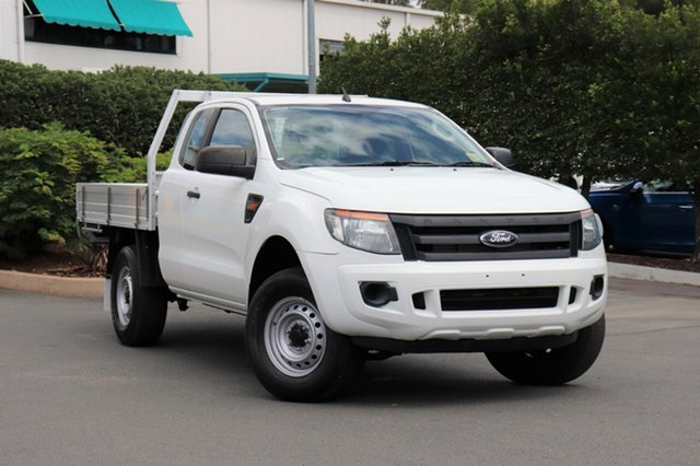 Used Ford Ranger PX XL Super Cab, 2013 Ford Ranger PX XL Super Cab Cool White 6 Speed Manual Cab Chassis