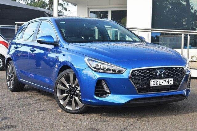 Used Hyundai i30 PD SR Premium, 2018 Hyundai i30 PD SR Premium Blue 7 Speed Sports Automatic Dual Clutch Hatchback