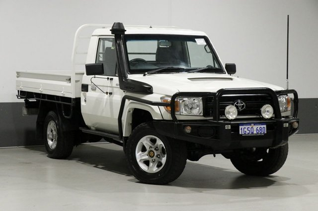Used Toyota Landcruiser VDJ79R MY12 Update GX (4x4), 2012 Toyota Landcruiser VDJ79R MY12 Update GX (4x4) White 5 Speed Manual Cab Chassis