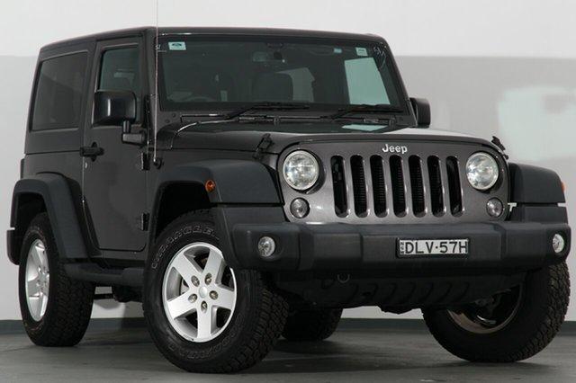 Used Jeep Wrangler JK MY2016 Sport, 2016 Jeep Wrangler JK MY2016 Sport Granite Crystal 5 Speed Automatic SUV
