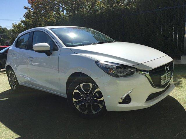 Demo Mazda 2 DJ2HAA Genki SKYACTIV-Drive, 2019 Mazda 2 DJ2HAA Genki SKYACTIV-Drive White Pearl 6 Speed Sports Automatic Hatchback