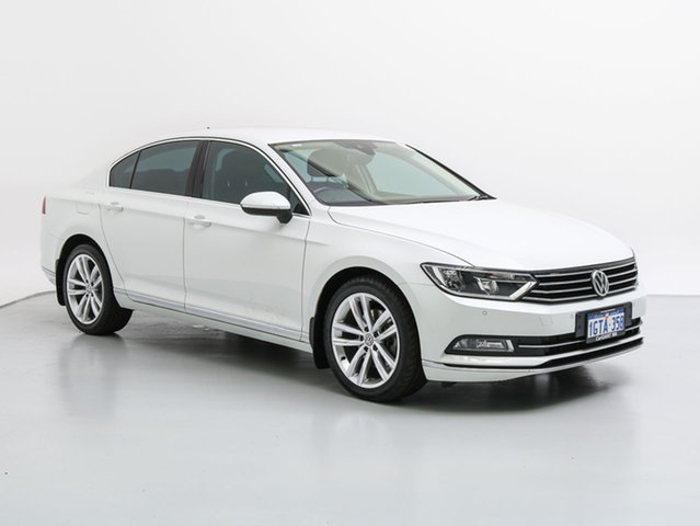 Used Volkswagen Passat 3C MY16 140 TDI Highline, 2015 Volkswagen Passat 3C MY16 140 TDI Highline White 6 Speed Direct Shift Sedan