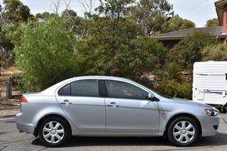 2012 Mitsubishi Lancer CJ MY12 ES Silver 5 Speed Manual Sedan.