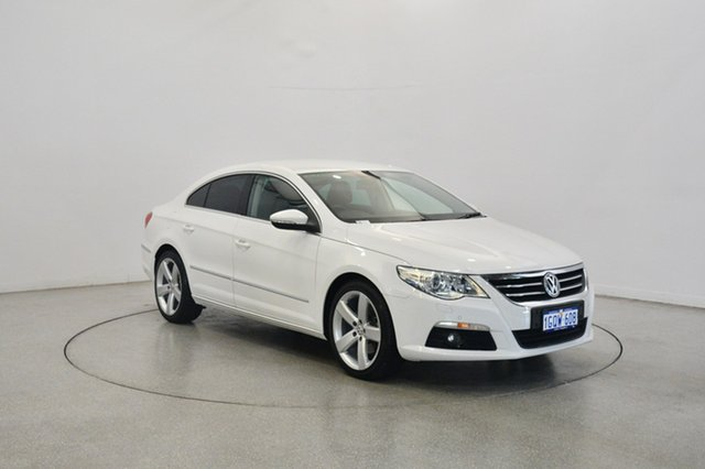 Used Volkswagen CC Type 3CC MY12.5 125TDI DSG, 2012 Volkswagen CC Type 3CC MY12.5 125TDI DSG Candy White 6 Speed Sports Automatic Dual Clutch Coupe