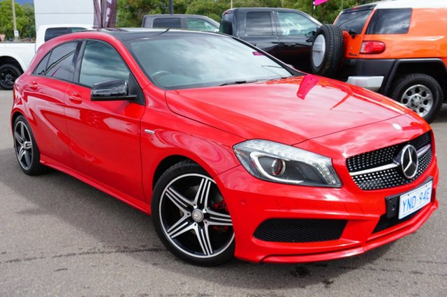 Used Mercedes-Benz A250 W176 Sport D-CT, 2014 Mercedes-Benz A250 W176 Sport D-CT Milano Red 7 Speed Sports Automatic Dual Clutch Hatchback