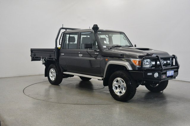 Used Toyota Landcruiser VDJ79R GXL Double Cab, 2019 Toyota Landcruiser VDJ79R GXL Double Cab Graphite 5 Speed Manual Cab Chassis