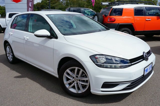 Used Volkswagen Golf 7.5 MY18 110TSI, 2017 Volkswagen Golf 7.5 MY18 110TSI Pure White 6 Speed Manual Hatchback