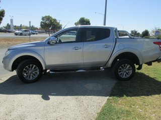 2016 Mitsubishi Triton MQ MY16 GLS Double Cab Silver 5 Speed Sports Automatic Utility
