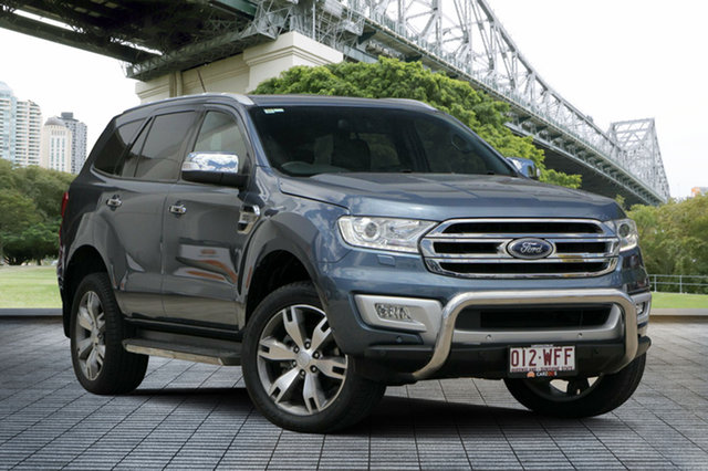 Used Ford Everest UA Titanium 4WD, 2015 Ford Everest UA Titanium 4WD Blue Reflex 6 Speed Sports Automatic Wagon