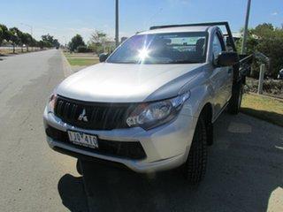 2016 Mitsubishi Triton MQ MY16 GLX 4x2 Silver 6 Speed Manual Cab Chassis.