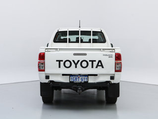 2015 Toyota Hilux KUN26R MY14 SR (4x4) White 5 Speed Automatic Double Cab Chassis