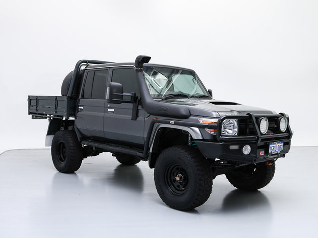 Used Toyota Landcruiser VDJ79R MY12 Update GXL (4x4), 2016 Toyota Landcruiser VDJ79R MY12 Update GXL (4x4) Graphite 5 Speed Manual Double Cab Chassis