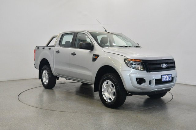 Used Ford Ranger PX XL Double Cab 4x2 Hi-Rider, 2013 Ford Ranger PX XL Double Cab 4x2 Hi-Rider Silver 6 Speed Manual Utility