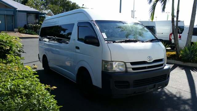 Used Toyota HiAce KDH223R MY08 Commuter High Roof Super LWB, 2008 Toyota HiAce KDH223R MY08 Commuter High Roof Super LWB White 5 Speed Manual Bus
