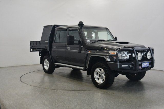 Used Toyota Landcruiser VDJ79R GXL Double Cab, 2018 Toyota Landcruiser VDJ79R GXL Double Cab Grey 5 Speed Manual Cab Chassis