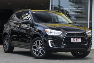 2016 Mitsubishi ASX XB MY15.5 XLS 2WD Black 6 Speed Constant Variable Wagon.