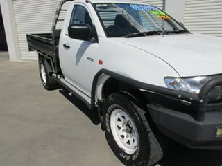 2007 Mitsubishi Triton ML MY07 GLX White 5 Speed Manual Cab Chassis