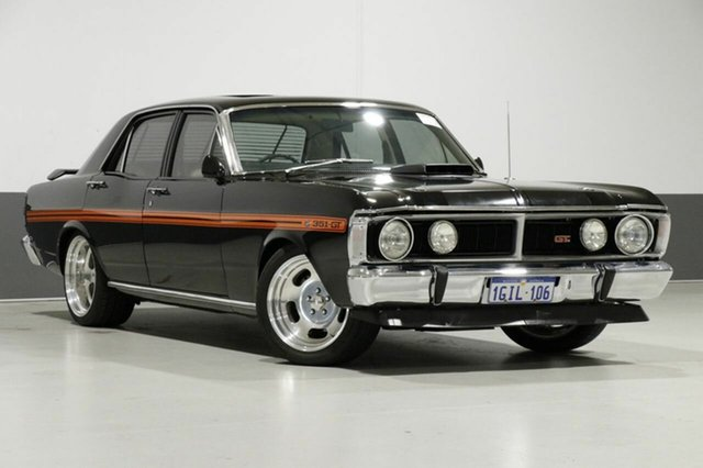 Used Ford Falcon XY GT, 1971 Ford Falcon XY GT Black 4 Speed Manual Sedan